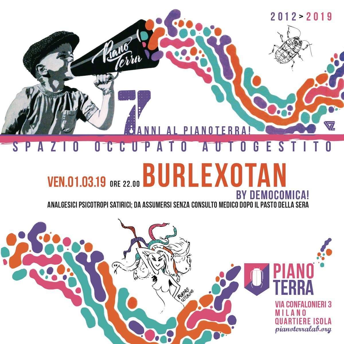 Burlexotan: il cabaret del venerdì a Piano Terra