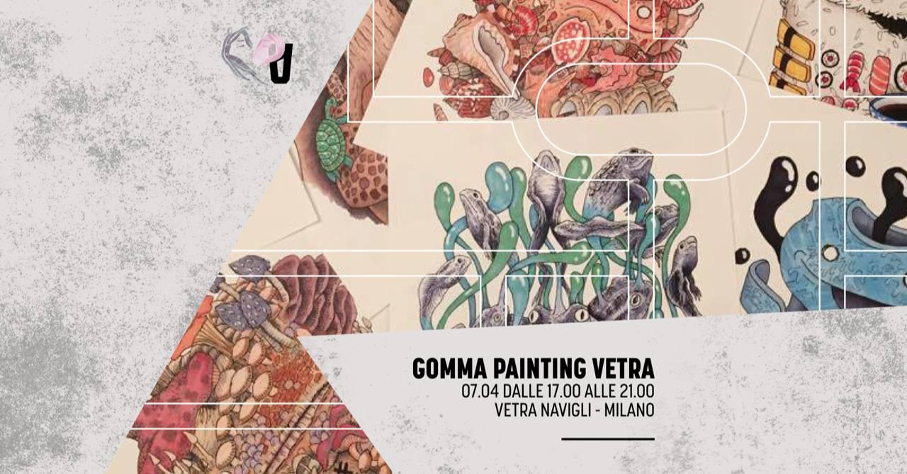 Birrette e live painting con Gomma